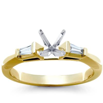 sapphire diamond engagement ring 14k white gold wedding ring diamond Riviera Micropav Sapphire and Diamond Engagement Ring in 14k White Gold