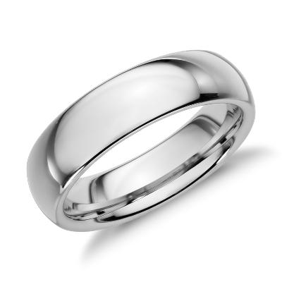 comfort fit wedding ring gray tungsten carbide tungsten wedding band Comfort Fit Wedding Ring in Classic Gray Tungsten Carbide 6mm