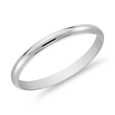 wedding ring platinum 22 womens wedding band Classic Wedding Ring in Platinum 2mm