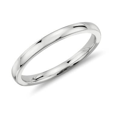 womens wedding rings women wedding rings Low Dome Comfort Fit Wedding Ring in Platinum 2mm