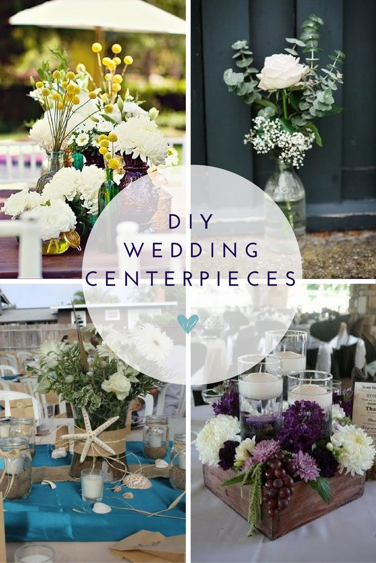 affordable wedding centerpieces inexpensive cheap wedding decorations DIY wedding centerpieces Jewel toned table arrangement Simple relaxed wedding decor is a