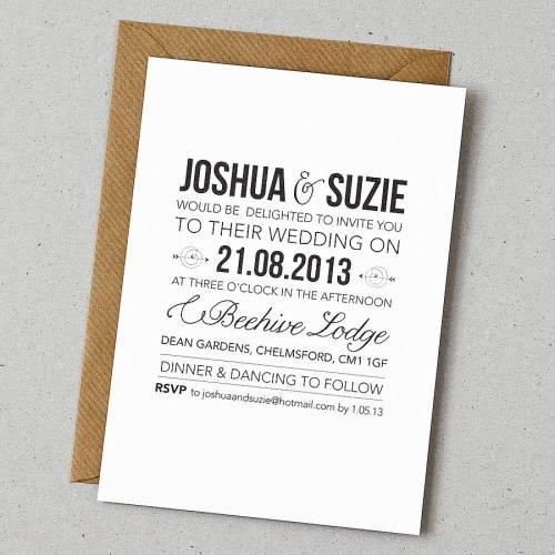 20 contemporary wedding invitation examples wedding invitations samples Contemporary Wedding Invitation Examples