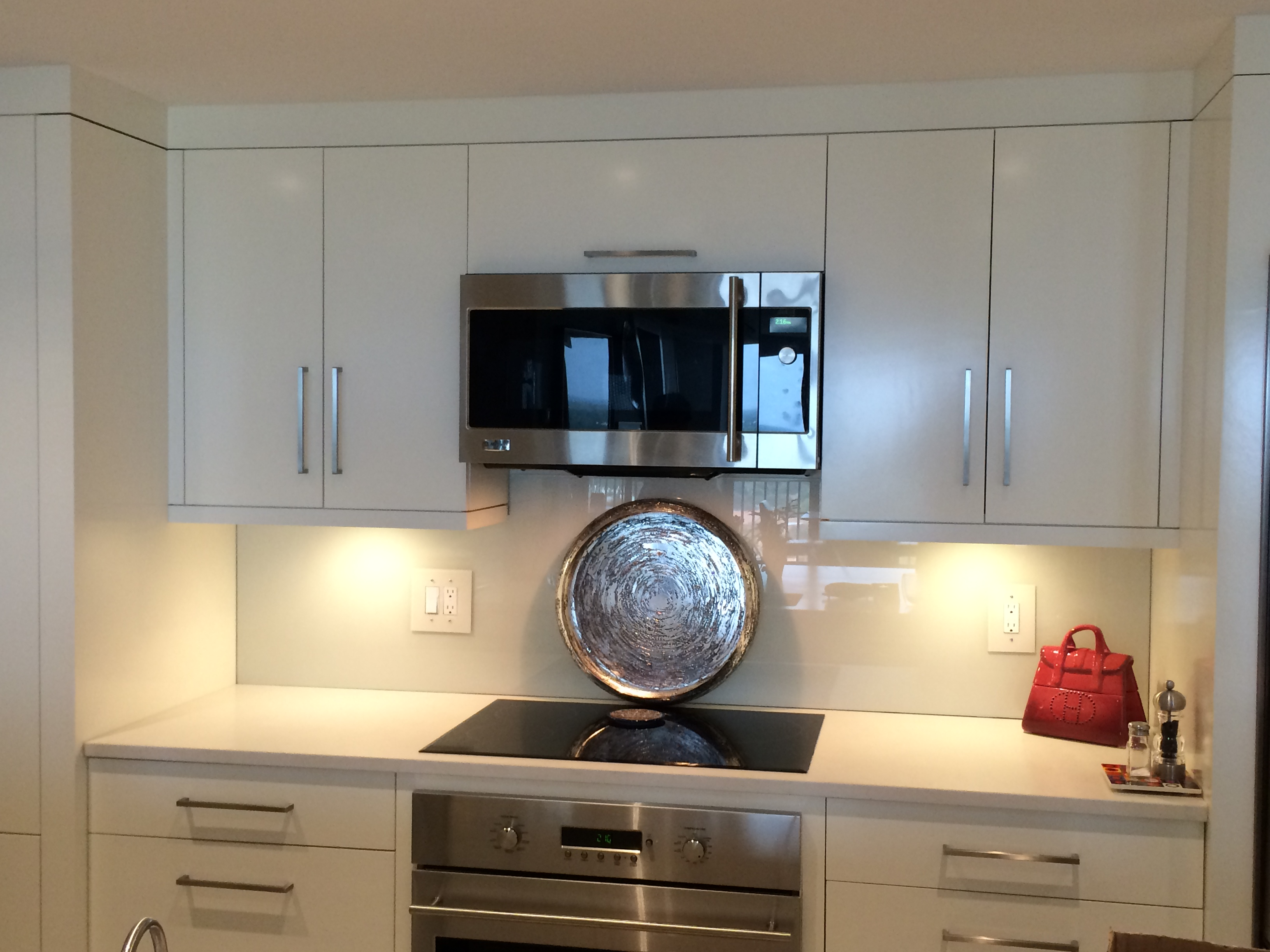 mirror glass backsplash glass backsplashes for kitchens Back painted Glass Backsplash