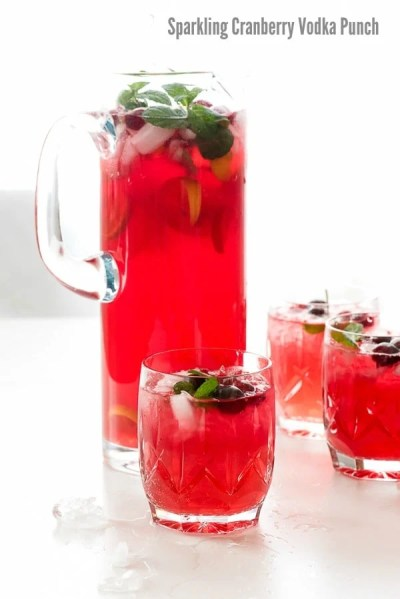 Sparkling Cranberry Vodka Punch   Boulder Locavore®