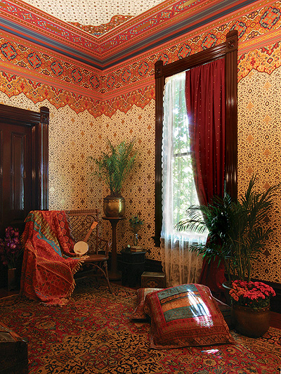 Persian Eastern Style Art Wallpapers as seen on the HBO series Boardwalk Empire | Bradbury ...