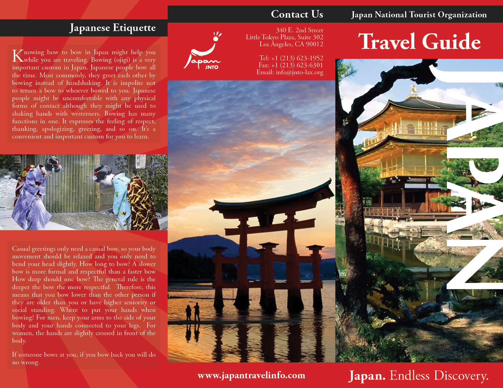 Japan Travel Brochure Examples Geography Travel Brochure Lessons Tes Teach