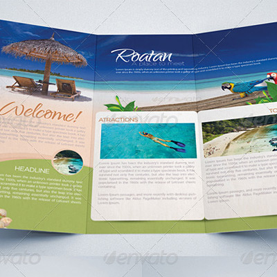 7 Great Travel Brochure Examples and Design Samples   BrandonGaille com Travel Agency Tri Fold Brochure Example