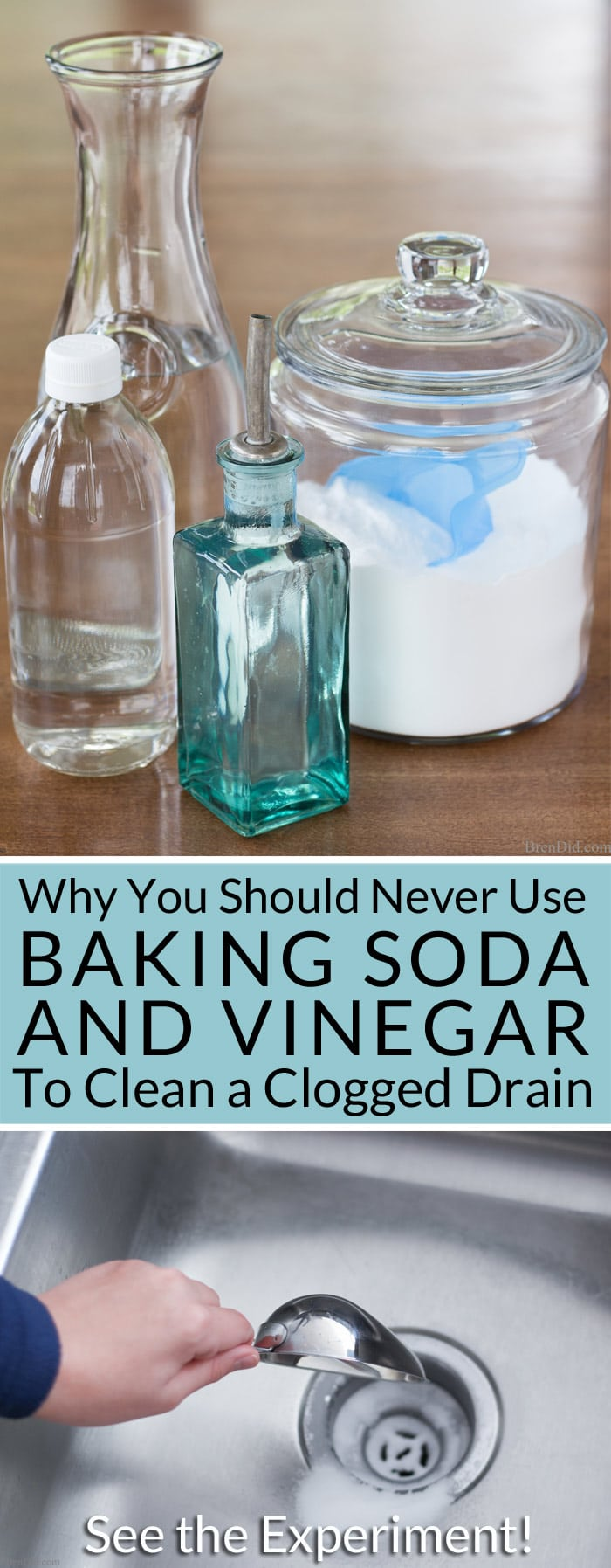 why you should never use baking soda and vinegar to clean clogged drains kitchen sink clogged Want to naturally unclog a sink or clean a slow moving drain Learn why you