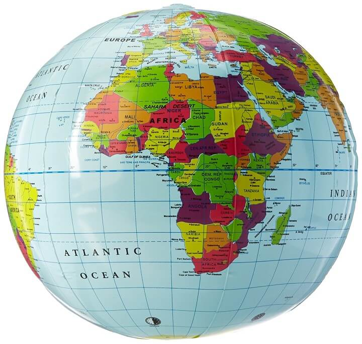 11 Best World Globes For Kids   Children     Brilliant Maps Bonus  1  Learning Resources Inflatable Globe