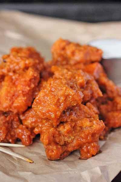 Garlic Boneless Buffalo Wings | Brown Sugar