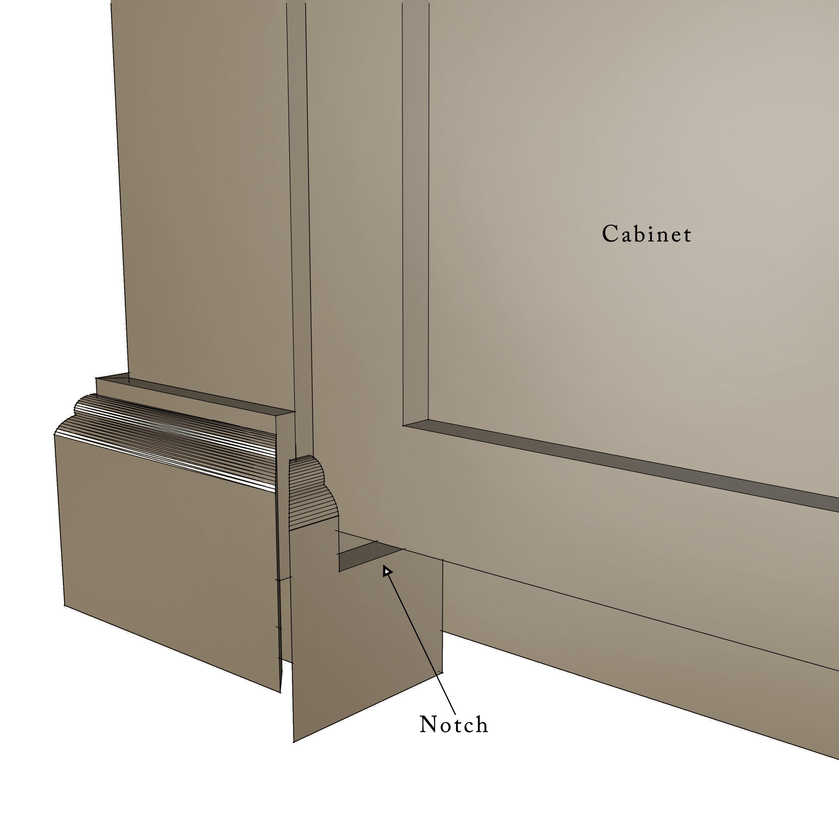 build a diy kitchen island 2 install kitchen island Kitchen Island Drawing Step 30