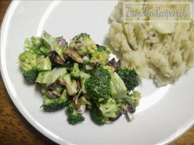 Broccoli Salad (Vegetarian) - Busy Mom Recipes