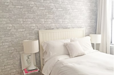 Before/After: DIY Faux Brick Wall With Peel And Stick Wallpaper | The Byrne Notice