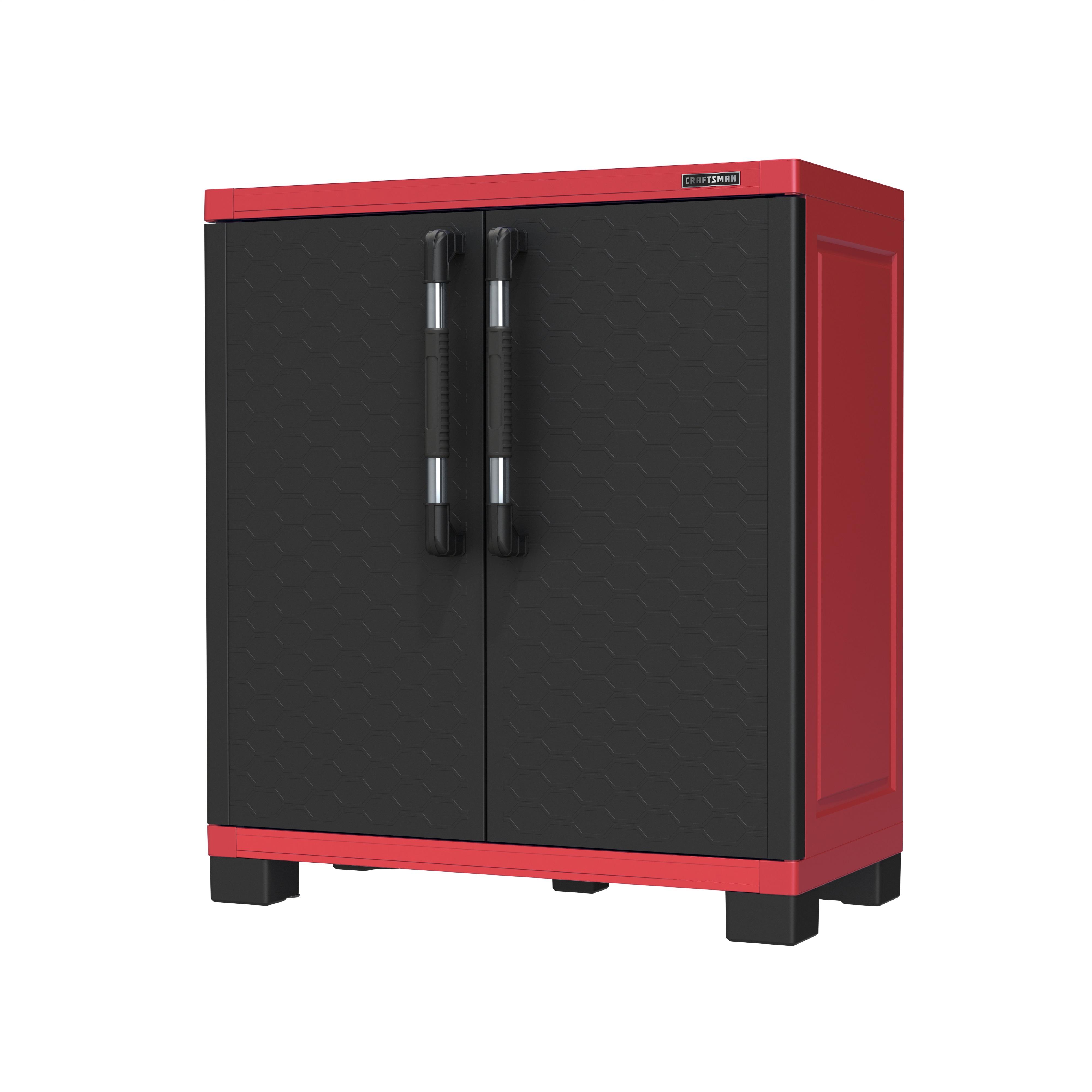 p P sears kitchen cabinets Craftsman Plastic 35 Storage Base Cabinet Tools Garage Organization Shelving Garage Storage Separates