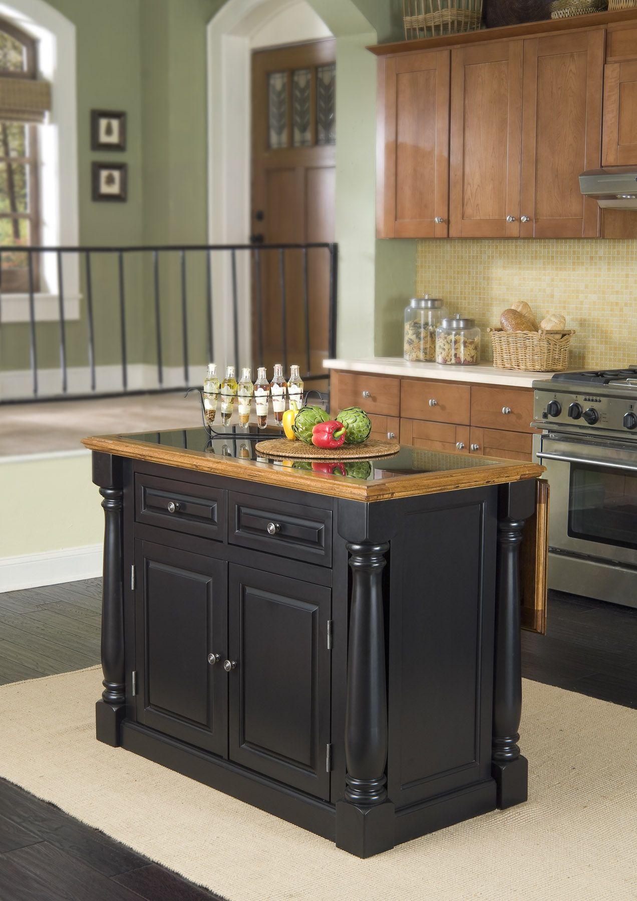 p P granite kitchen island Home Styles Monarch Hidden Leg Kitchen Island with Granite Top Home Furniture Dining Kitchen Furniture Kitchen Carts Islands
