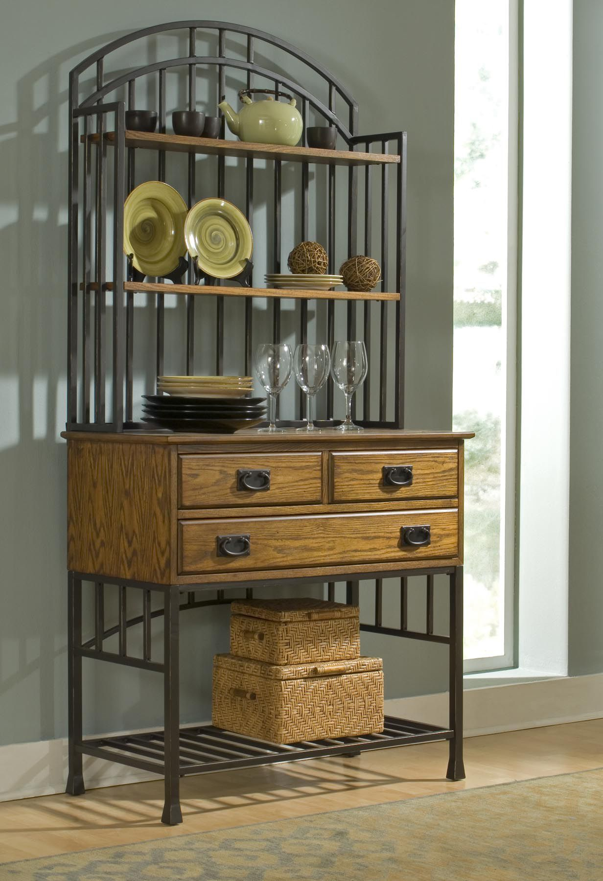 Home Styles Oak hill Bakers Rack