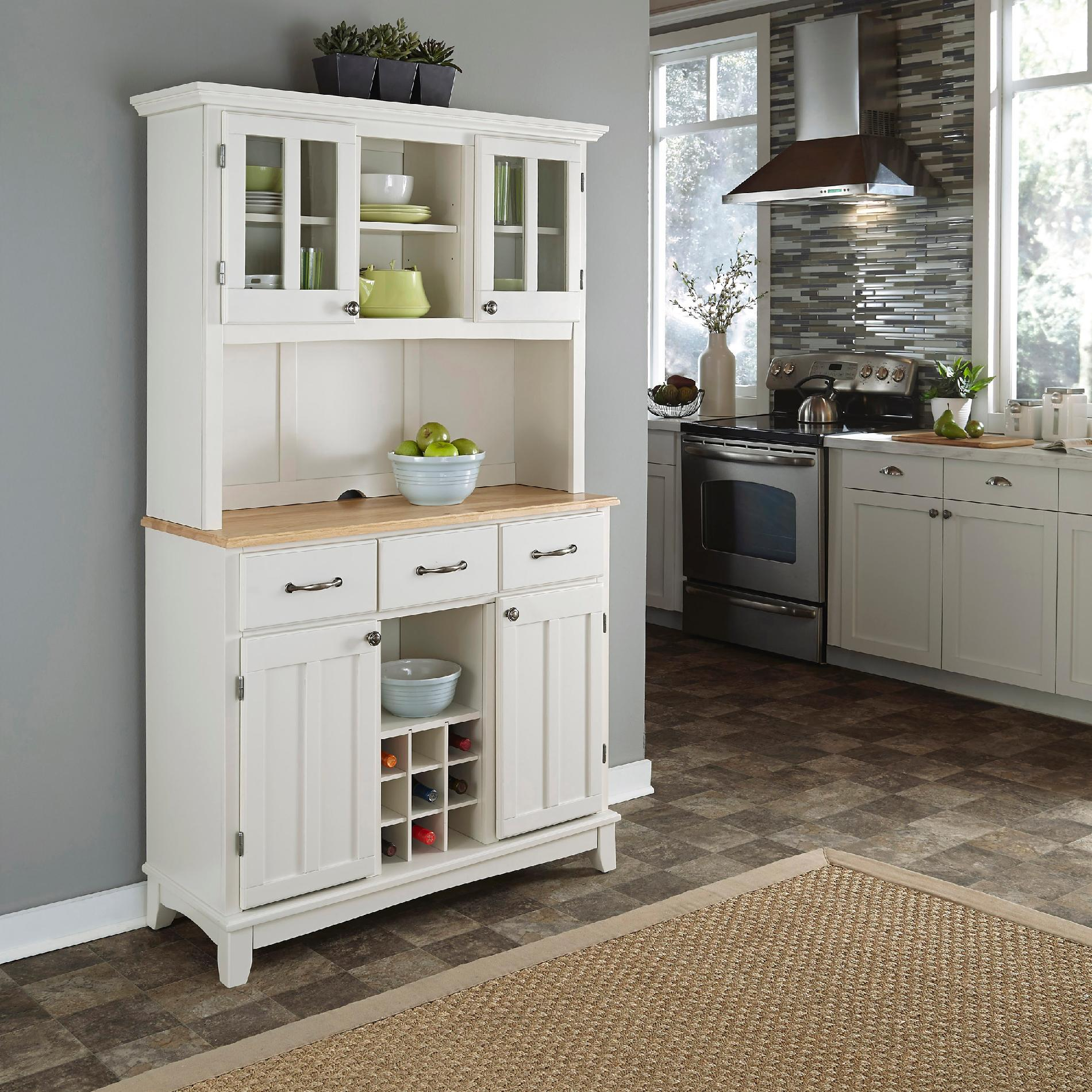 Home Styles Dining Room Buffet Hutch - White