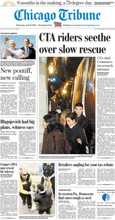 Chicago Tribune My photo on the Front Page!   Tripp   Flickr