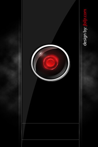 wallpaper-hal9000-iphone | One of many 2001: A Space Odyssey… | Flickr