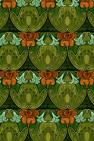 Art Nouveau Tile iPhone Wallpaper | Recreation of vintage Ar… | Flickr