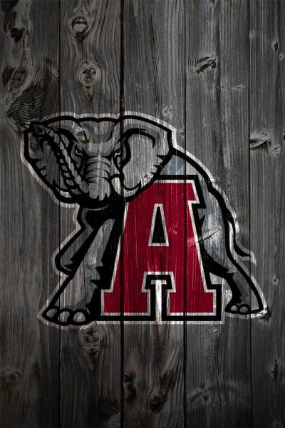 Alabama Crimson Tide Alternate Logo Wood iPhone 4 Backgrou ...