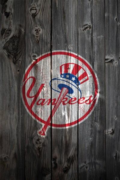 New York Yankees Alternate Logo Wood iPhone 4 Background | Flickr