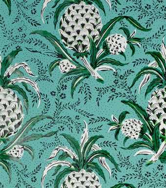 pineapple wallpaper for bathroom | circa 1830/1860 via dollh… | Flickr