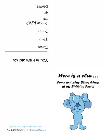 Printable Blue's Clues Party Invitations | Click here to get… | Flickr