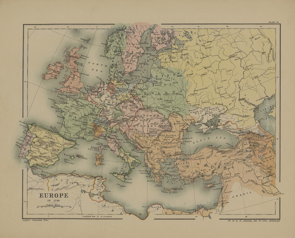 Map page of Section X Europe in the Eighteenth Century pri      Flickr     Map page of Section X Europe in the Eighteenth Century prior to the  French Revolution from