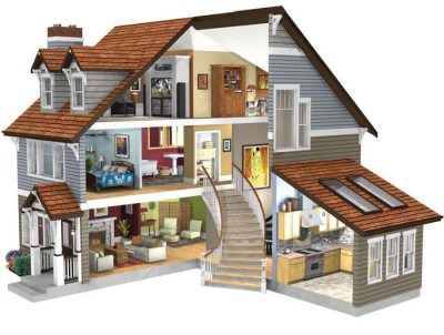 3D DOLL HOUSE | This is the 3D rendering of my original ...