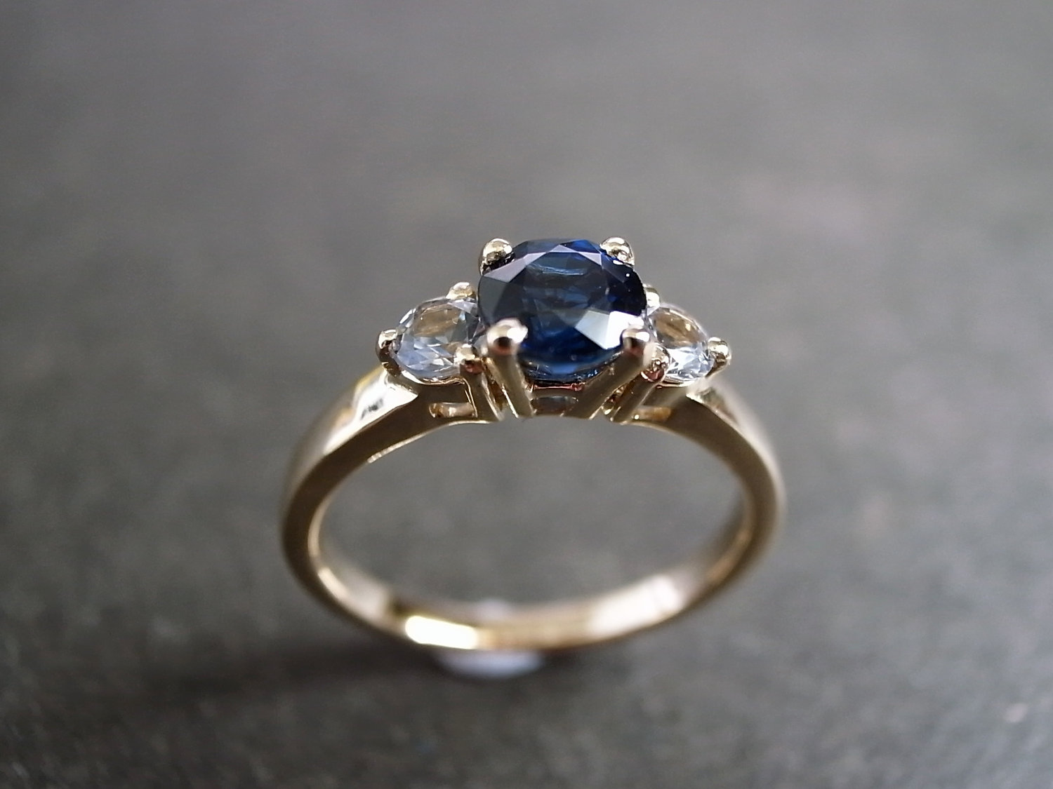blue sapphire and white sapphire engagement ring blue sapphire wedding rings Blue Sapphire and White Sapphire Engagement Ring