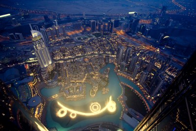 Dubai fountains from Burj Khalifa [Explored] | Night shot ...
