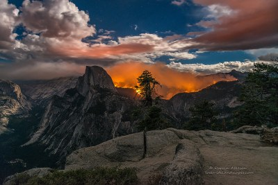 Glacier Point Yosemite Fire | A wide angle shot of the Yosem… | Flickr