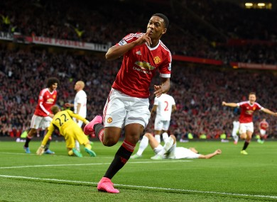 Anthony Martial marks Man United debut with stunning goal ...