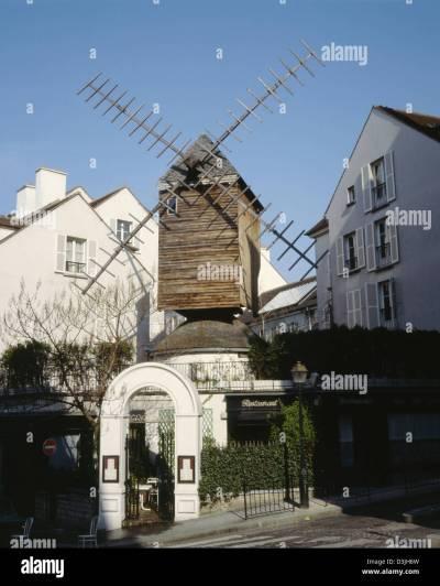 Le Moulin Radet, Montmartre, Paris, France Stock Photo, Royalty Free Image: 53883729 - Alamy
