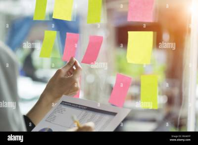 business people having a meeting in office, business people post it Stock Photo, Royalty Free ...
