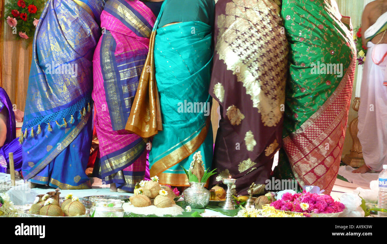 stock photo guests at indian wedding ceremony give gifts wedding gifts for guests Guests at Indian wedding ceremony give gifts