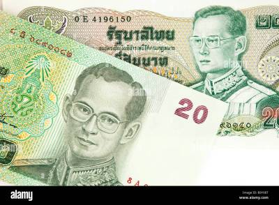 Money Thai currency detail of old and new Thailand 20 baht banknotes Stock Photo: 23355608 - Alamy