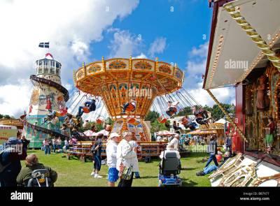 fairground rides at the royal cornwall show,wadebridge,cornwall,uk Stock Photo: 24145835 - Alamy