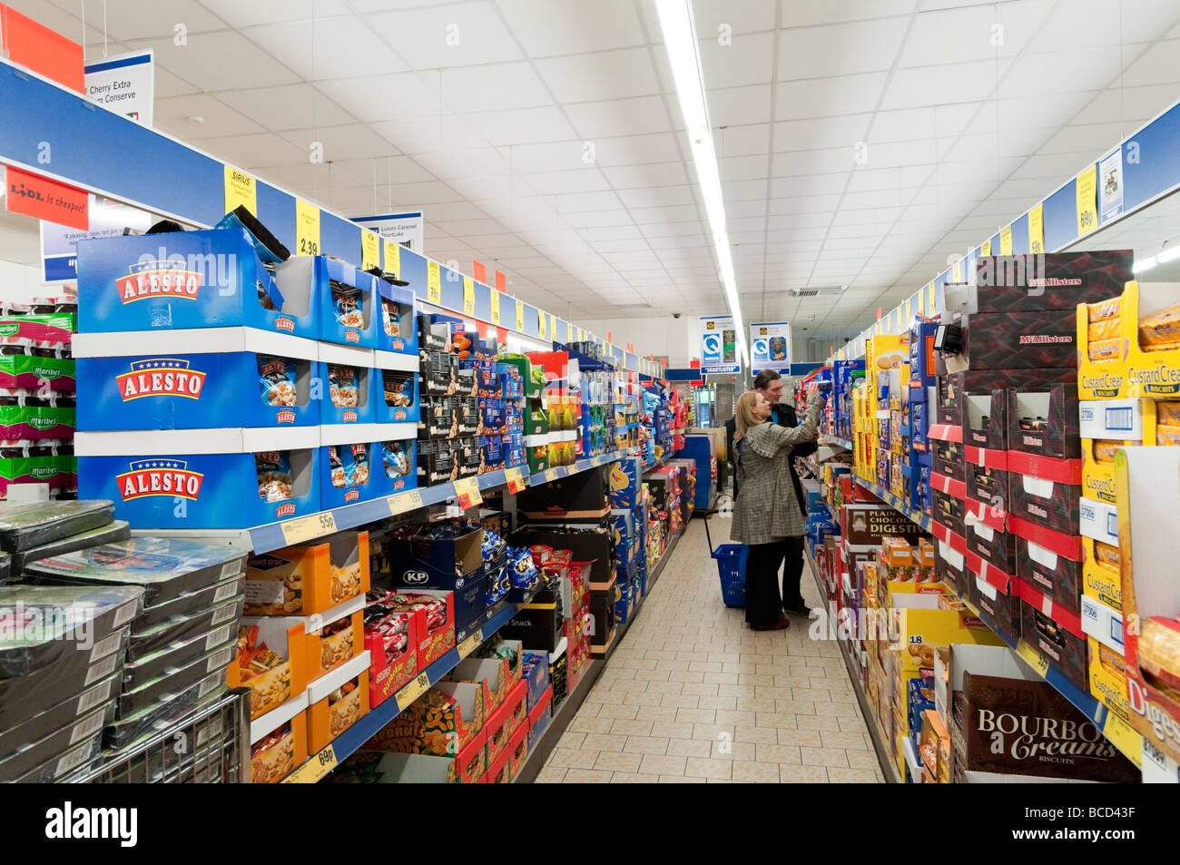 Shopping in Lidl supermarket  England UK Stock Photo  24874851   Alamy Shopping in Lidl supermarket  England UK