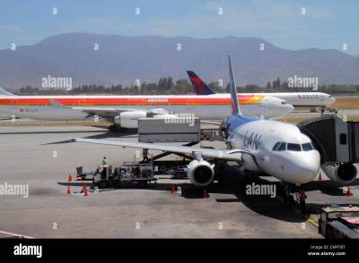 Santiago Chile Comodoro Arturo Merino Benítez International Airport Stock Photo, Royalty Free ...
