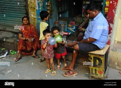 Daily life street view in Paharganj, New Delhi Stock Photo ...
