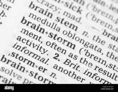 Brainstorm Black and White Stock Photos & Images - Alamy