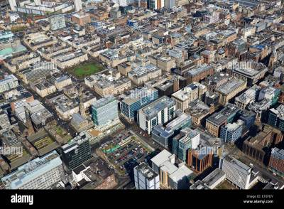 The business district of Glasgow City Centre from the air, Central Stock Photo: 69719159 - Alamy