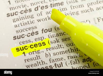 The Word Success Highlighted in Dictionary with Yellow Marker Stock Photo: 73124590 - Alamy