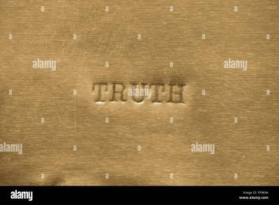 word truth printed on golden metallic background Stock ...