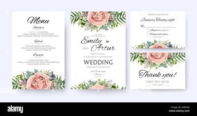 Wedding Invitation, floral invite card Design: garden ...