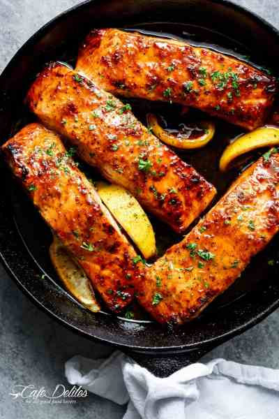 Easy Honey Garlic Salmon - Cafe Delites