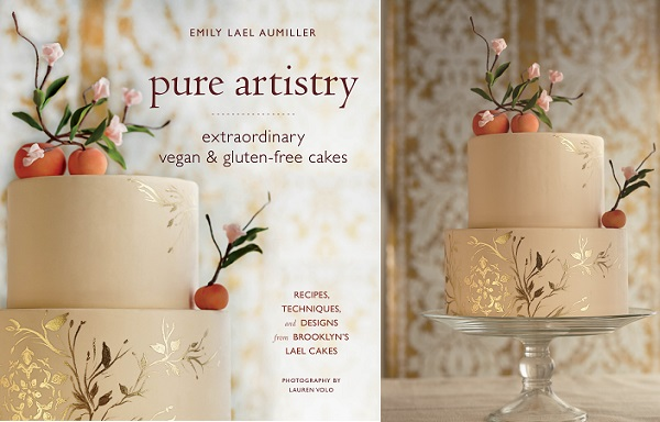 Peach Wedding Cake Decorating Tutorial   Cake Geek Magazine peaches and gold stencilling tutorial by Emily Lael Aumiller from her book  Pure Artistry