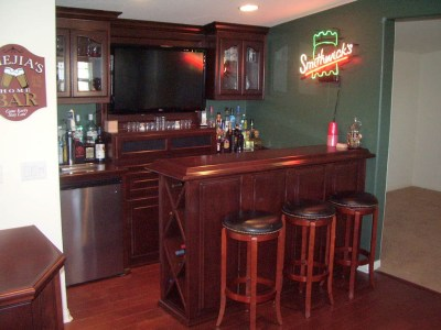 Get a Custom Home Bar and Built In Wine Storage Cabinet